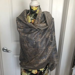 100% Silk scarf from India